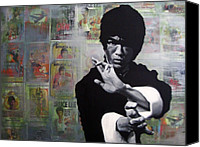 Martial Arts Canvas Prints - Bruce Lee Canvas Print by Ryan Jones
