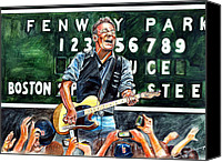 Boston Red Sox Canvas Prints - Bruce Springsteen at Fenway Park Canvas Print by Dave Olsen