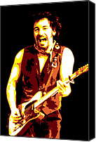 Singer Digital Art Canvas Prints - Bruce Springsteen Canvas Print by Dean Caminiti