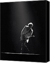 Springsteen Canvas Prints - Bruce Springsteen in the Spotlight Canvas Print by Mike Norton