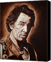 E Street Band Canvas Prints - Bruce Springsteen Canvas Print by Mark Baker