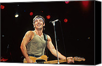 Rich Fuscia Canvas Prints - Bruce Springsteen Canvas Print by Rich Fuscia