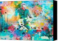 Singer Painting Canvas Prints - Bruce Springsteen  Canvas Print by Rosalina Atanasova