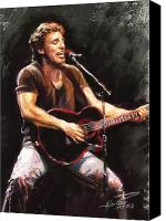 Springsteen Canvas Prints - Bruce Springsteen  Canvas Print by Ylli Haruni