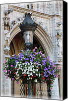 Brussels Canvas Prints - Brussels Lamp Post Canvas Print by Carol Groenen