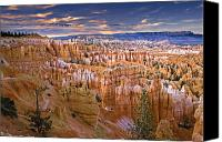 Mountain View Canvas Prints - Bryce Canyon Canvas Print by William Lee