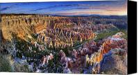 Mountain View Canvas Prints - Bryce Point Sunrise Canvas Print by William Lee