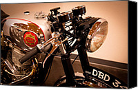 Bsa Canvas Prints - BSA DBD34GS Goldstar Clubman Motorcycle Canvas Print by David Patterson