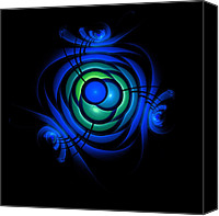 Alien Canvas Prints - Bubble blues Canvas Print by Stefan Kuhn