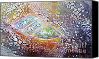 Transportation Ceramics Canvas Prints - Bubble Boat Canvas Print by Kathleen Pio