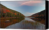 Autumn Canvas Prints - Bubble Pond at Autumn Glory Canvas Print by Juergen Roth