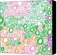 Bubbles Drawings Canvas Prints - Bubbles Canvas Print by Karl Addison