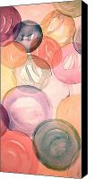 Droplet Painting Canvas Prints - Bubbles Canvas Print by Linda Bourie