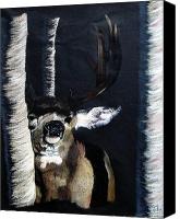Helm Pastels Canvas Prints - Buck Canvas Print by Mayhem Mediums