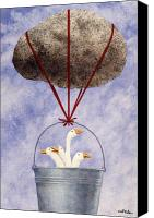 Geese Canvas Prints - Bucket of Dolts... Canvas Print by Will Bullas