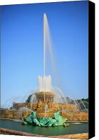 Long Canvas Prints - Buckingham Fountain Canvas Print by Adam Romanowicz