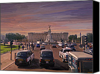 Buckingham Palace Digital Art Canvas Prints - Buckingham Palace Canvas Print by Nop Briex