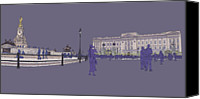Buckingham Palace Digital Art Canvas Prints - Buckingham Palace, Queen Vctoria Memorial, London Canvas Print by Simon Carter