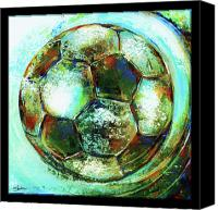Ball Mixed Media Canvas Prints - Buckminster Canvas Print by Shevon Johnson