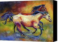 Williams Painting Canvas Prints - Buckskin and Bay Canvas Print by Diane Williams