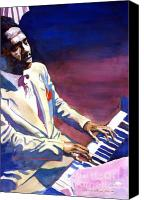Bud Painting Canvas Prints - Bud Powell Piano Bebop Jazz Canvas Print by David Lloyd Glover