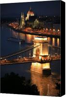 Hungary Canvas Prints - Budapest at dusk Canvas Print by Joe Burns
