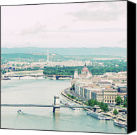 Danube Canvas Prints - Budapest In Hungarian Canvas Print by by Smaranda Madalina Cheregi
