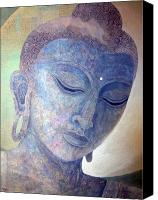 Compassion Canvas Prints - Buddha Alive in Stone Canvas Print by Jennifer Baird