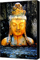 Peace Pyrography Canvas Prints - Buddha color Canvas Print by Tom Page