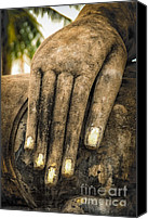Thailand Canvas Prints - Buddha Hand Canvas Print by Adrian Evans