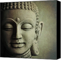 Male Canvas Prints - Buddha Canvas Print by Photo - Lyn Randle