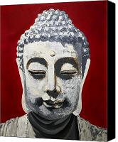 Enthroned Canvas Prints - Buddhism and Conservation Canvas Print by Dave Sherwood-Adcock