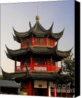 Octagonal Canvas Prints - Buddhist Pagoda - Shanghai China Canvas Print by Christine Till - CT-Graphics