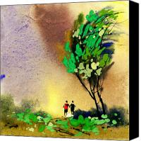 Buddies Canvas Prints - Buddies 2 Canvas Print by Anil Nene