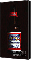 Bottles Canvas Prints - Budweiser - King of Beers Canvas Print by Wingsdomain Art and Photography