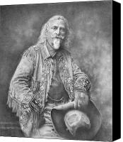William Drawings Canvas Prints - Buffalo Bill Canvas Print by Steven Paul Carlson
