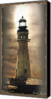 Ocean Scene Canvas Prints - Buffalo Main Lighthouse Canvas Print by Gina Femrite