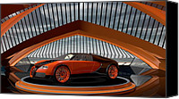 Louis Ferreira Art Canvas Prints - Bugatti Veyron Canvas Print by Louis Ferreira