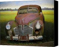 Transportation Painting Canvas Prints - Buick Eight Canvas Print by Doug Strickland