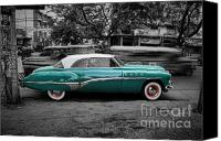 Blue Buick Canvas Prints - Buick Eight Roadmaster Canvas Print by Yhun Suarez