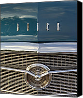 Blue Buick Canvas Prints - Buick Special 1956. Miami Canvas Print by Juan Carlos Ferro Duque