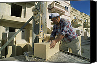 Building Materials Canvas Prints - Building Construction Canvas Print by Alexis Rosenfeld