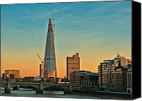 Construction Canvas Prints - Building Shard Canvas Print by Jasna Buncic