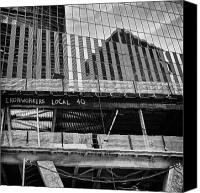 Nyc Photo Canvas Prints - Building the American dream Canvas Print by John Farnan