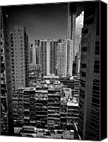 Hong Kong Canvas Prints - Buildings In Hong Kong Canvas Print by All rights reserved to C. K. Chan