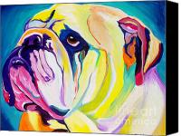 Pet Portrait Canvas Prints - Bulldog - Bully Canvas Print by Alicia VanNoy Call