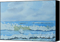 Watercolor  Special Promotions - Bulli Beach Canvas Print by Pamela  Meredith