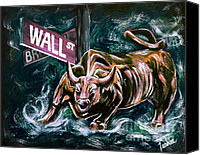 Finance Canvas Prints - Bullish Market Canvas Print by Teshia Art