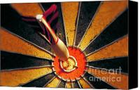 Featured Canvas Prints - Bulls eye Canvas Print by John Greim