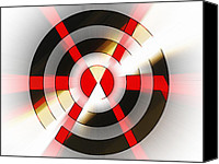 Susan Leggett Digital Art Canvas Prints - Bulls Eye Canvas Print by Susan Leggett